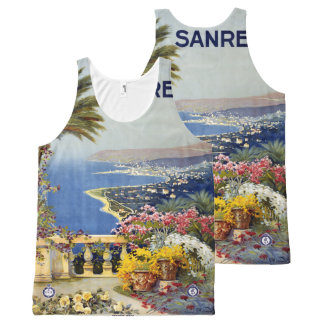 San Remo Italy Vintage Travel Poster tank top