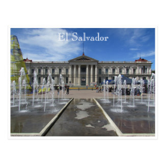 san salvador national palace postcard