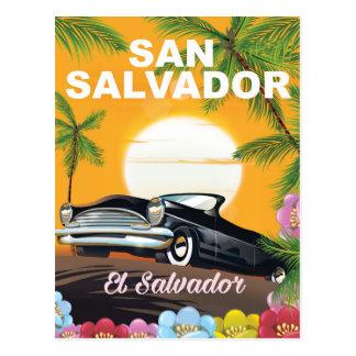 San Salvador Vintage travel poster Postcard