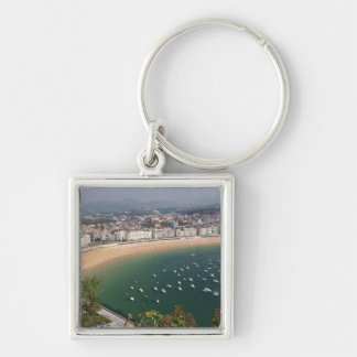 San Sebastian, Spain. The Basque city of San Silver-Colored Square Keychain