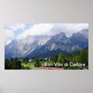 San Vito di Cadore Italy Poster