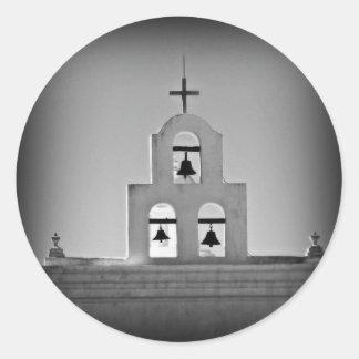 San Xavier church Classic Round Sticker