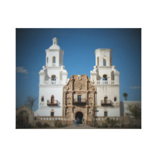 San Xavier Mission near Tucson, Arizona. Canvas Print