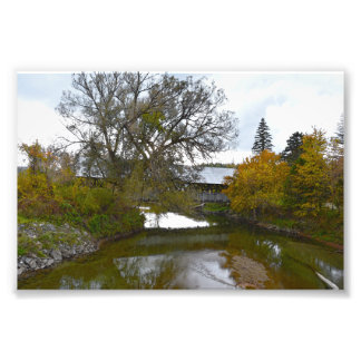 Sanborn Covered Bridge, Lyndon, Vermont Photo Print