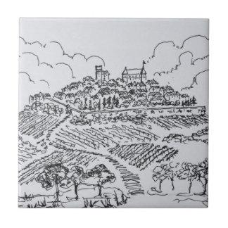 Sancerre Vineyards | Loire Valley, France Tile
