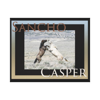 Sancho and Casper Canvas wrap