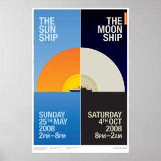 Sancho Panza - The Sun Ship / The Moon Ship Poster