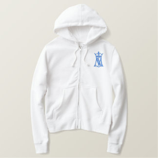 Sancta Maria, Our Lady Embroidered Hoodies