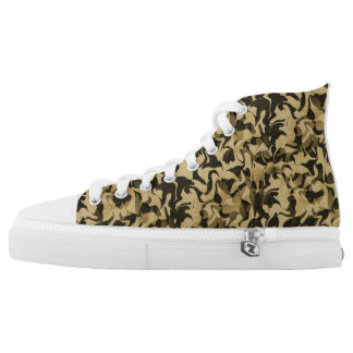 Sand and Black Camouflage High Tops