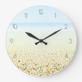 SAND AND SEA Numbers - Customizable Numbered Large Clock