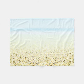 SAND AND SEA Serene Summer Seascape Fleece Blanket