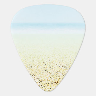 SAND AND SEA Serene Summer Seascape Guitar Pick