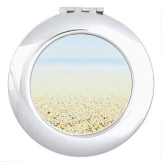 SAND AND SEA Serene Summer Seascape Vanity Mirror