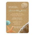 Sand and Shells Beach Baby Shower Invite