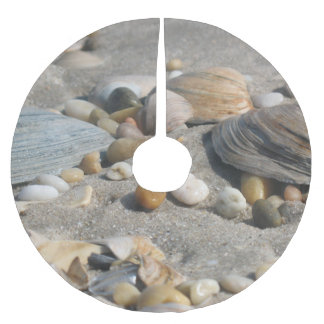 Sand and Shells Beach Tree Skirt Brushed Polyester Tree Skirt