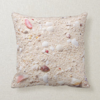 Sand And Shells Throw Pillow