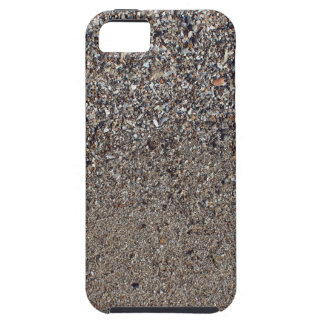 Sand and small stones with fragments of shells on iPhone 5 covers