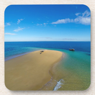 Sand Bar And Dhow | Ibo Island, Mozambique Coaster
