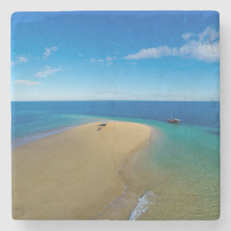 Sand Bar And Dhow | Ibo Island, Mozambique Stone Coaster