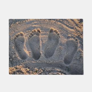 Sand Beach Footprints Doormat