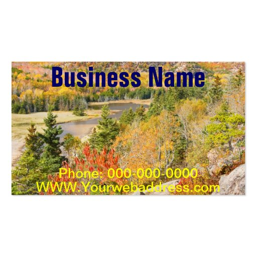 Sand Beach from Great Head, Acadia National Park Business Card Templates