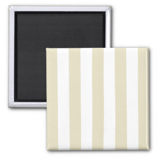 Sand Beige White XL Stripes Fridge Magnet
