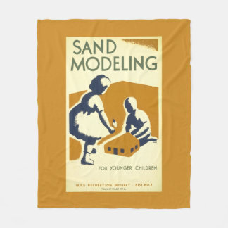 Sand Castle Building Art Fleece Blanket