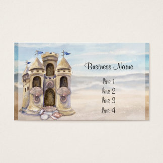 Sand Castle Dreams 2013 Calender Business Card