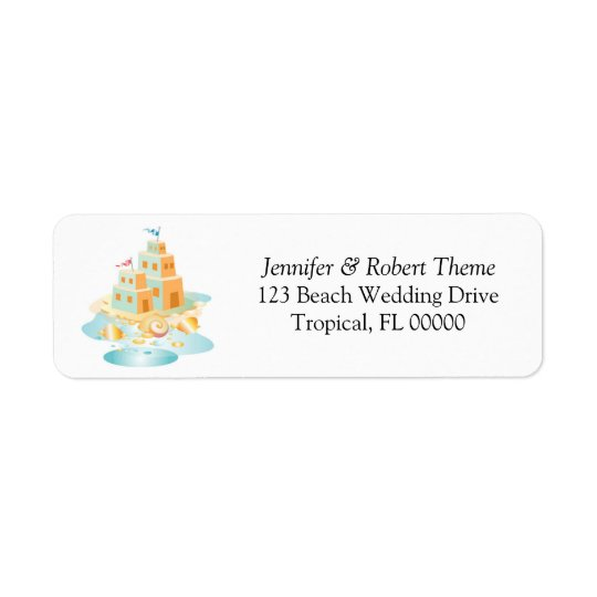 Sand Castle Invitations Return Address Label