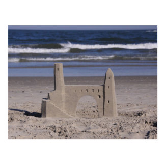 sand castle, ocean city postcard