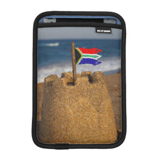 Sand Castle With South African Flag, Umhlanga iPad Mini Sleeves
