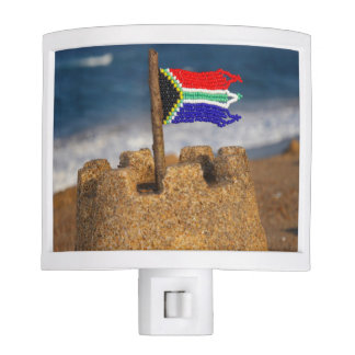 Sand Castle With South African Flag, Umhlanga Nite Lights