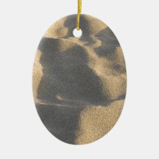 Sand Ceramic Oval Ornament