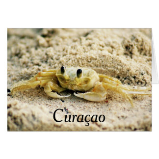 Sand Crab, Curacao, Caribbean islands, Greeting Card