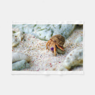 Sand Crab, Curacao, Caribbean islands, Photo Fleece Blanket