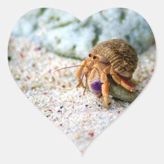 Sand Crab, Curacao, Caribbean islands, Photo Heart Sticker