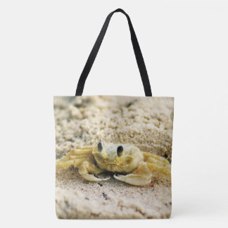 Sand Crab, Curacao, Caribbean islands, Photo Tote Bag
