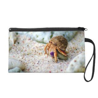 Sand Crab, Curacao, Caribbean islands, Photo Wristlet Purses
