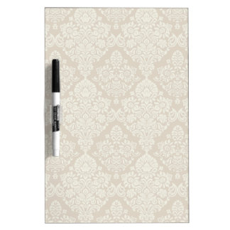 Sand Delicate Floral Swirl Dry Erase Whiteboard