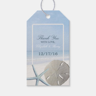 Sand Dollar and Starfish Beach Wedding Pack Of Gift Tags