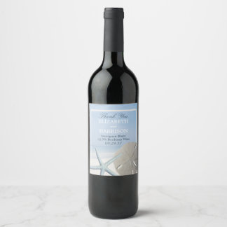 Sand Dollar and Starfish Beach Wine Label