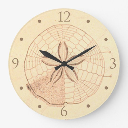 Sand Dollar Beach House Clock
