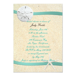 Sand Dollar Beach Wedding Bridal Shower Invitation