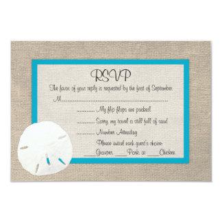 Sand Dollar Beach Wedding RSVP card Malibu 2