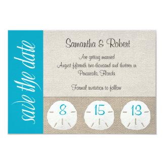 Sand Dollar Beach Wedding Save the Date Malibu Card