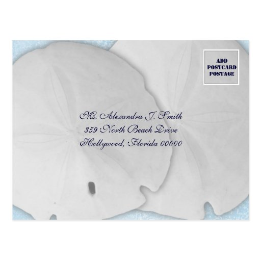 Sand Dollar Blues, Wedding Invite Reply Postcard