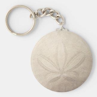 Sand Dollar Button Keychain