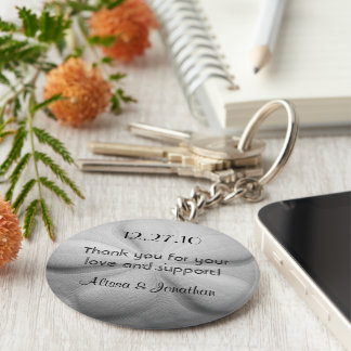 Sand Dollar Personalized Key Ring Wedding Favor Basic Round Button Keychain