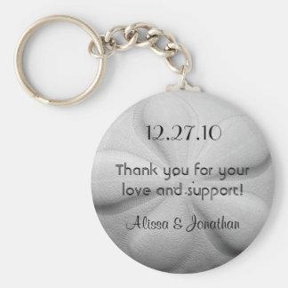 Sand Dollar Personalized Key Ring Wedding Favor Basic Round Button Keychain