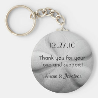 Sand Dollar Personalized Key Ring Wedding Favour Basic Round Button Keychain